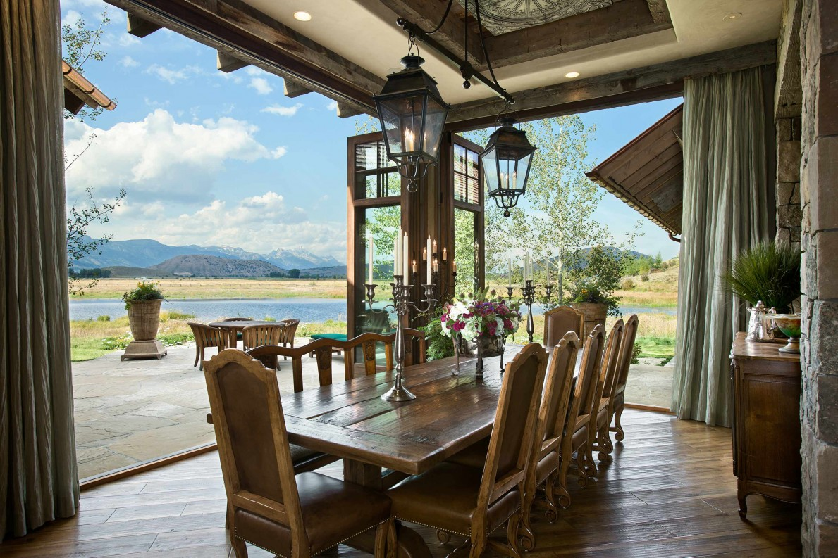 locati architects wyoming residence int dining